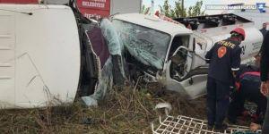 Öğrenci servisi ile tanker çarpıştı: 4'ü öğrenci 8 yaralı