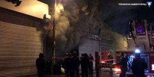 Zonguldak'ta sanayi sitesinde yangın çıktı