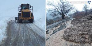 Yüksekova'da köy yolları ulaşıma kapandı
