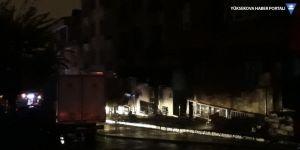 Bağcılar'da doğalgaz yangını