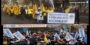 KESK'ten krize karşı miting