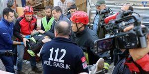 Bodrum'da bina çöktü: 5 işçi yaralı