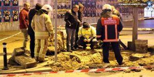 Bağdat Caddesi'nde doğalgaz borusu delindi!