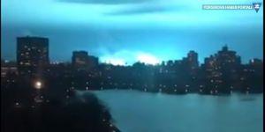 Korkutan mavi ışık trafo patlaması çıktı