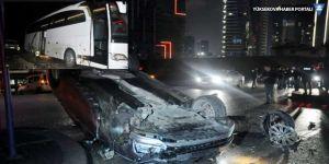 Zenit'i taşıyan otobüs Ankara'da kaza yaptı