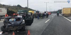 TEM'de kaza: İstanbul yönü kapandı