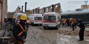 Müze inşaatı çöktü: 2'si ağır, 8 işçi yaralı