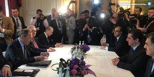 Mesrur Barzani ile Sergey Lavrov bir araya geldi