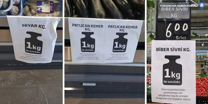 Süpermarketlerdeki ucuz sebze satışında kota 1 kilograma kadar düştü