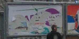 Ağrı ve Tatvan'da da HDP afişleri toplatıldı