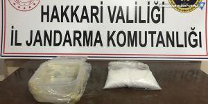 Yüksekova'da bir kilo uyuşturucu ele geçirildi