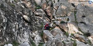Van Kalesi'ndeki kayalıklarda mahsur kalan kişi kurtarıldı