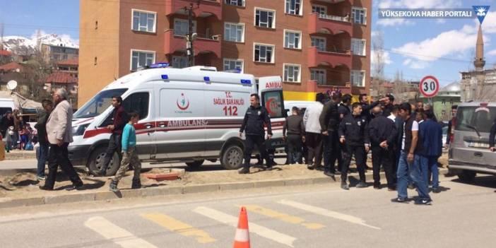 Yüksekova'da trafik kazası: 1 yaralı