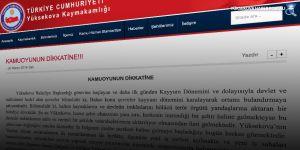 Yüksekova Kaymakamlığından 'kayyum dönemi' açıklaması