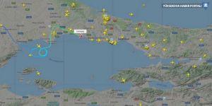 İstanbul'a gelen uçaklar havada tur atıyor
