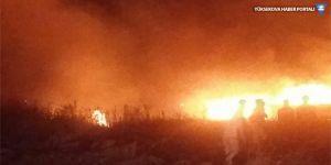 Kerkük'te yangın: IŞİD arazileri ateşe verdi