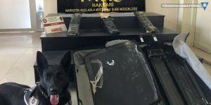 Yüksekova Havalimanındaki valizden uyuşturucu çıktı