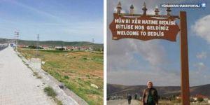Bitlis'e girişteki Kürtçe tabela da kaldırıldı