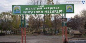 Mezarlıktaki Kürtçe tabela da kaldırıldı