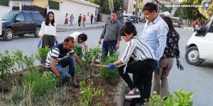 Hakkari Belediyesi meclis üyelerinden peyzaj çalışması