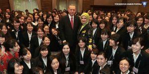 Erdoğan'ın Japonya'da kadın üniversitesi çıkışı