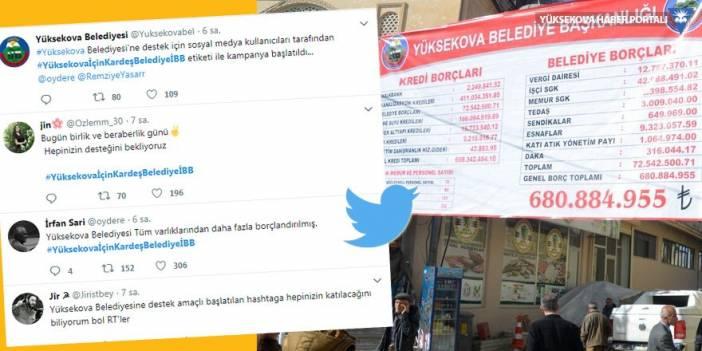 Yüksekova Belediyesi için #YüksekovaİçinKardeşBelediyeİBB etiketiyle kampanya başlatıldı!