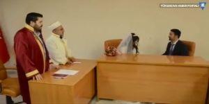 Savcı Sayan belediyede imam nikahı kıydırdı