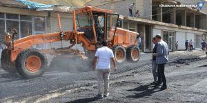 Esendere Gümrük Kapısı'nda asfalt çalışması