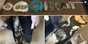 İran uyruklu yolcunun üzerinden uyuşturucu çıktı