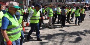 Yüksekova Belediyesi'nin temizlik kampanyası sürüyor