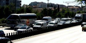 Trafikte bayram yoğunluğu başladı