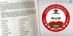 Yüksekova'daki avukatlardan Hakkari Barosu'na tepki