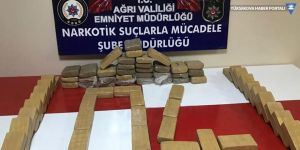 Ağrı'da bir tırda 35 kilogram eroin ele geçirildi