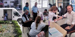 Hakkari Belediyesi çalışanlarına sağlık taraması