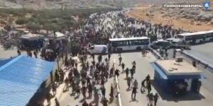 Suriyelilerden sınırda Türkiye protestosu