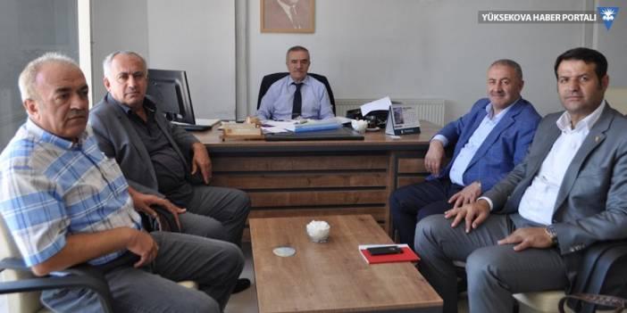 Yüksekova'daki STK'lardan yeni VEDAŞ müdürüne ziyaret