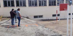 Başkale Belediyesinden okul temizliği
