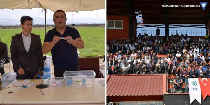 Yüksekova'da 1256 konutun dağıtımı yapıldı