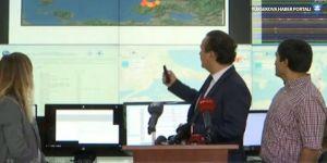 Kandilli Rasathanesi'nde açıklama yapılırken deprem oldu