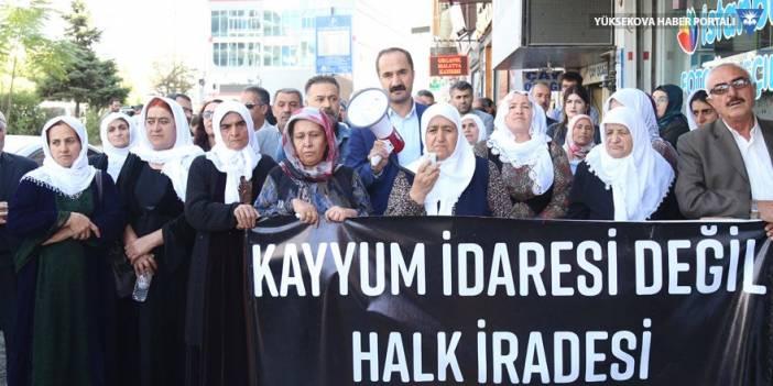 Yüksekovalı Barış Anneleri'nden 'kayyım' protestolarına destek