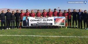 Yüksekova Belediyespor, Musa Harmancı pankartıyla sahaya çıktı!