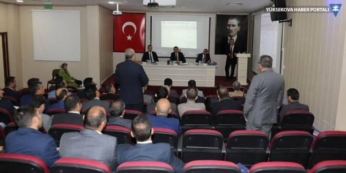 Hakkari'de İl Koordinasyon Kurulu Toplantısı yapıldı
