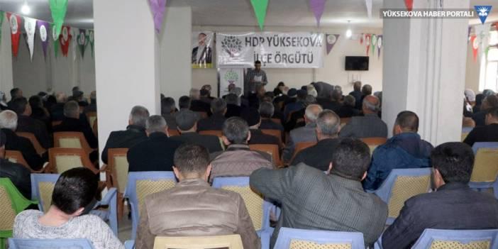 HDP'den Yüksekova'da halk toplantısı