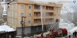 Şemdinli'de yangın