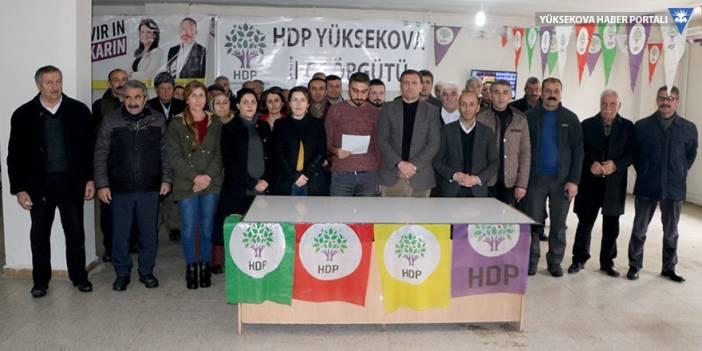 Yüksekova Belediyesi'nde HDP'li meclis üyeleri toplantıya alınmadı