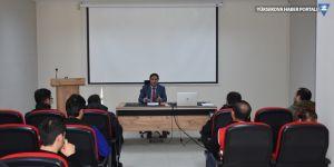 Hakkari'de basın mensuplarına ilk yardım eğitimi