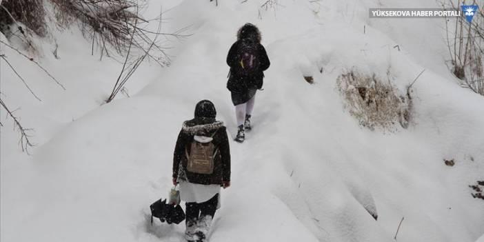 Yüksekova'da eğitime kar tatili
