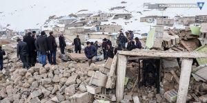 Başkale'de Deprem bölgesinden görüntüler