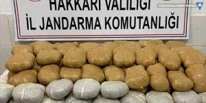 Yüksekova'da 158 kilogram uyuşturucu ele geçirildi