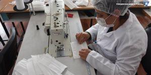 Hakkarili kadınlar cerrahi maske üretiyor